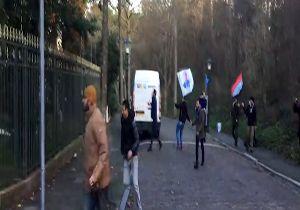 حمله تروریستهای الاحوازیه به سفارت کشورمان در هلند + فیلم