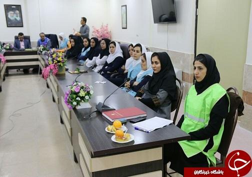 برگزاری کارگاه آموزش ایمنی و اطفاء حریق برای کارکنان بیمارستان مهر خرم آباد+تصاویر