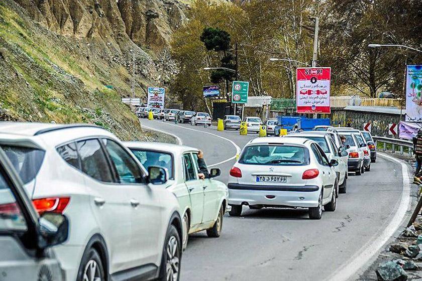 ممنوعیت تردد در محور کرج-مرزن آباد/ افزایش ۱.۳ درصدی ترددها در محورهای برون شهری