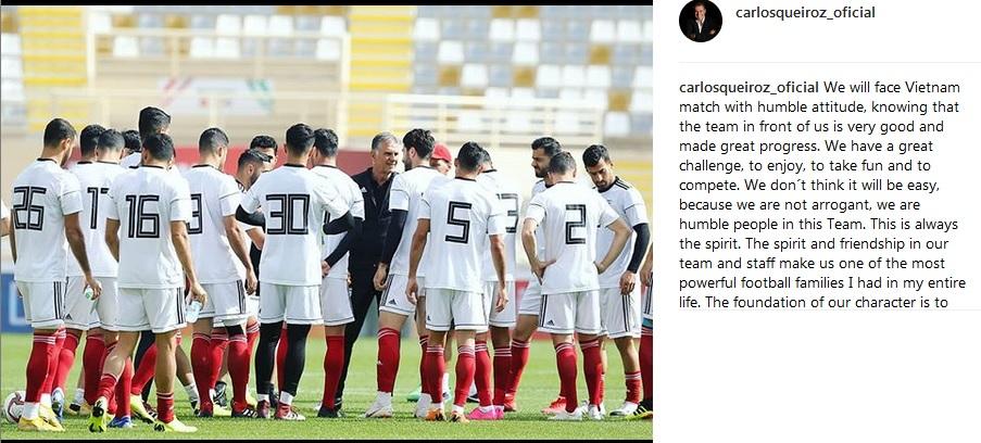 کیروش وظایف ملی پوشان ایران در جام ملتهای آسیا را تشریح کرد