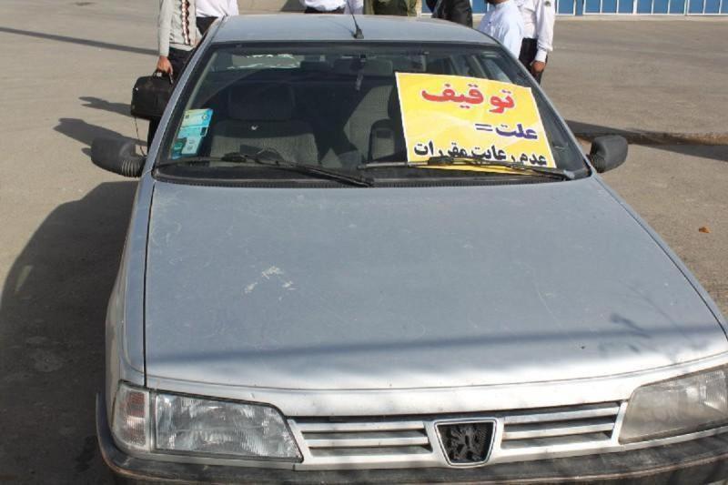توقیف سواری پژو ۴۰۵ به علت سرعت غیر مجاز
