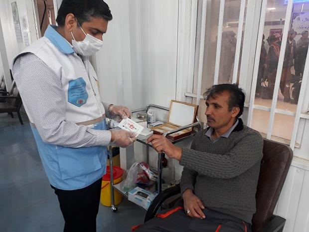 انجام آزمایشهای سلامت سنجی در بین کارکنان پایانه مرزی دوغارون