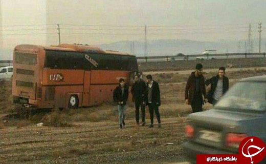 تصادف پراید با اتوبوس دانشجویان در محور اشتهارد - بوئین زهرا + عکس