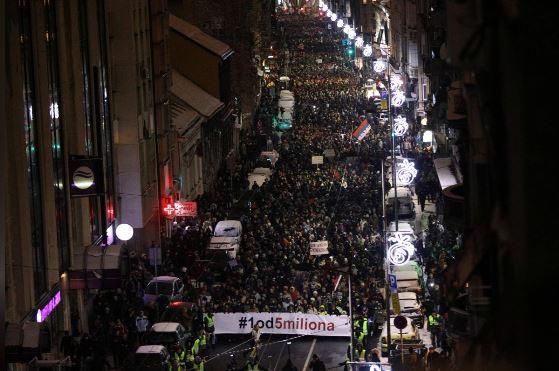 اعتراضات مردم صربستان علیه دولت وارد هفته ششم شد+تصاویر