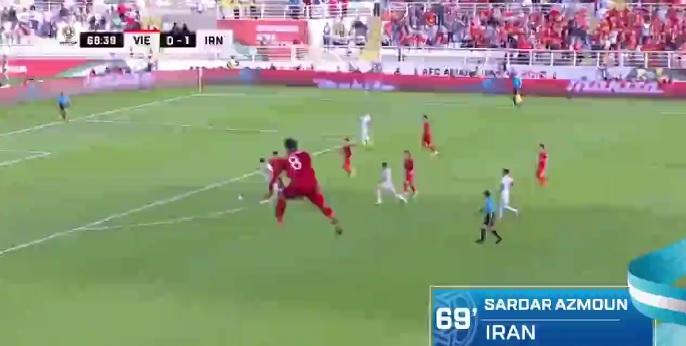 دریبل آزمون مقابل تیم فوتبال ویتنام سوژه AFC شد