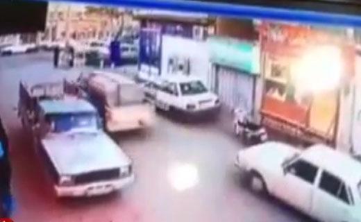 زیرگرفتن یک زن توسط راننده ناشی پراید + فیلم