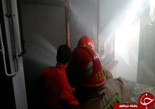 مهار آتش سوزی در در پاساژ چهل ستون ساری + تصاویر