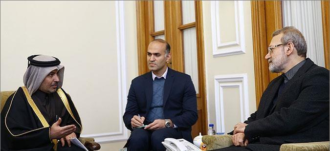 رئیس مجلس قطر برای حضور لاریجانی در اجلاس بین المجالس جهانی دعوت کرد