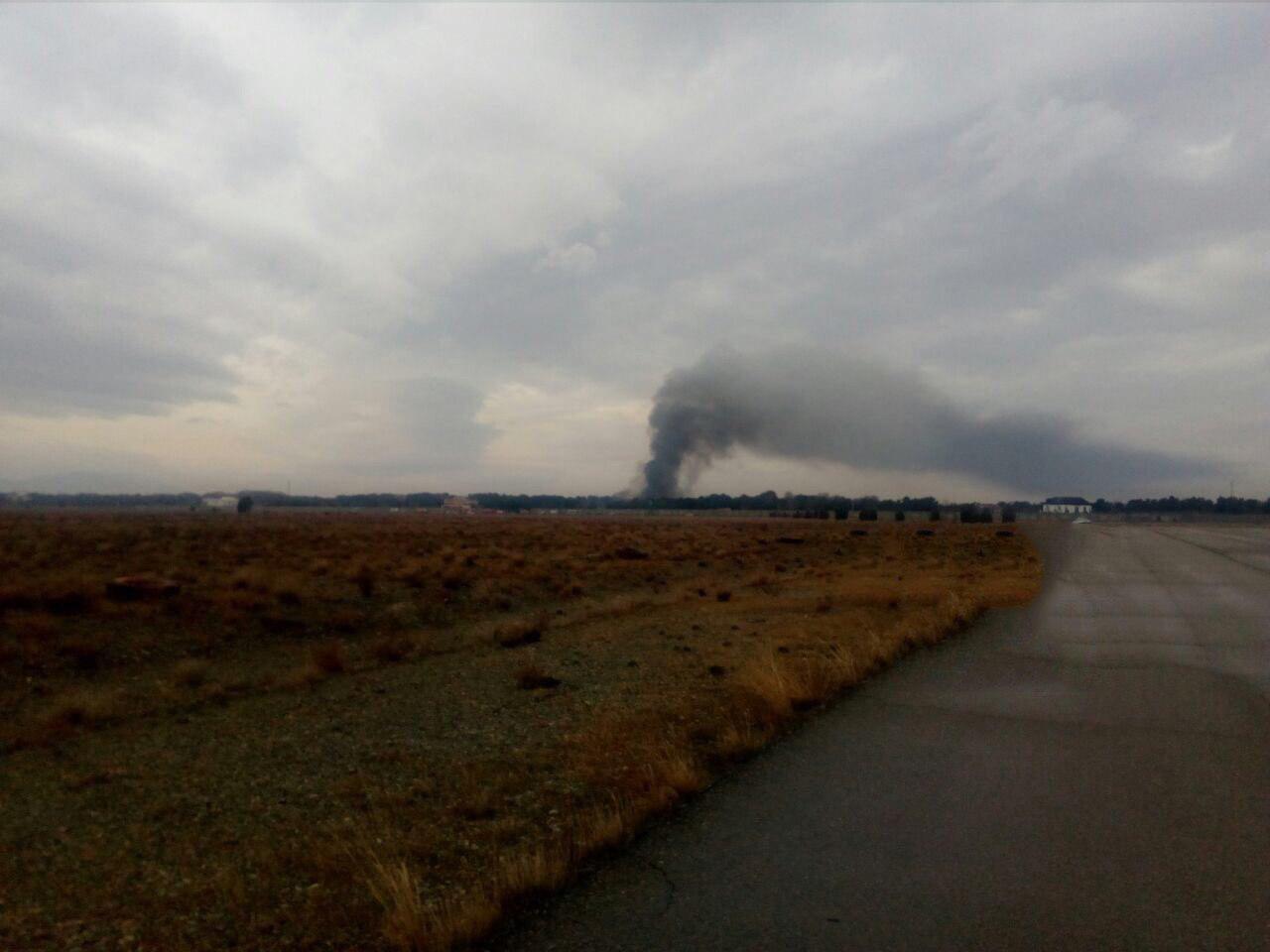 سقوط هواپیمای غیرمسافربری در صفادشت کرج  تصاویر