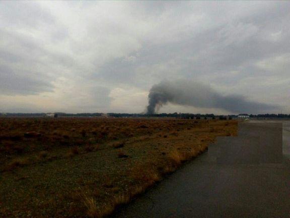 سقوط هواپیمای باری در فرودگاه فتح کرج/ اعزام تیمهای امدادی به محل حادثه