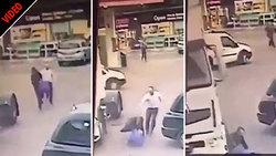 مجازات آنی سارق حین فرار در خیابان! +فیلم
