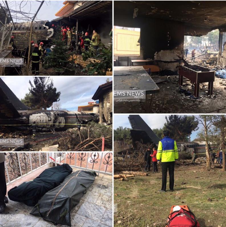 دو عکس جدید از محل سقوط هواپیما در کرج