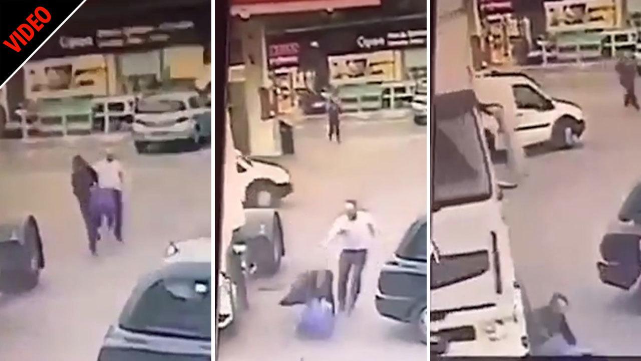 مجازات آنی سارق حین فرار در خیابان! + فیلم//