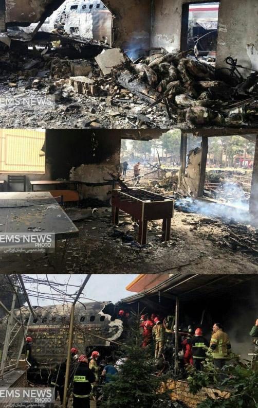 هفت عکس جدید از محل سقوط هواپیما در کرج