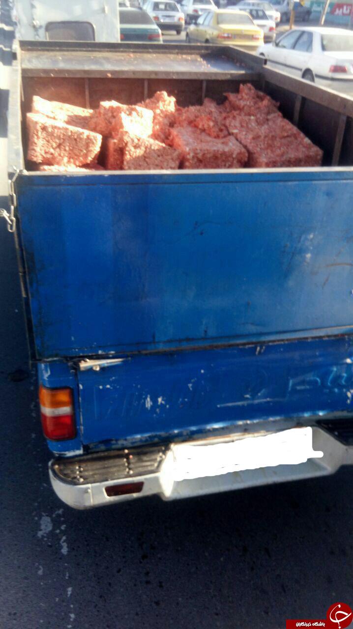 حمل گوشت چرخکرده به غیربهداشتی ترین شکل ممکن!! + عکس