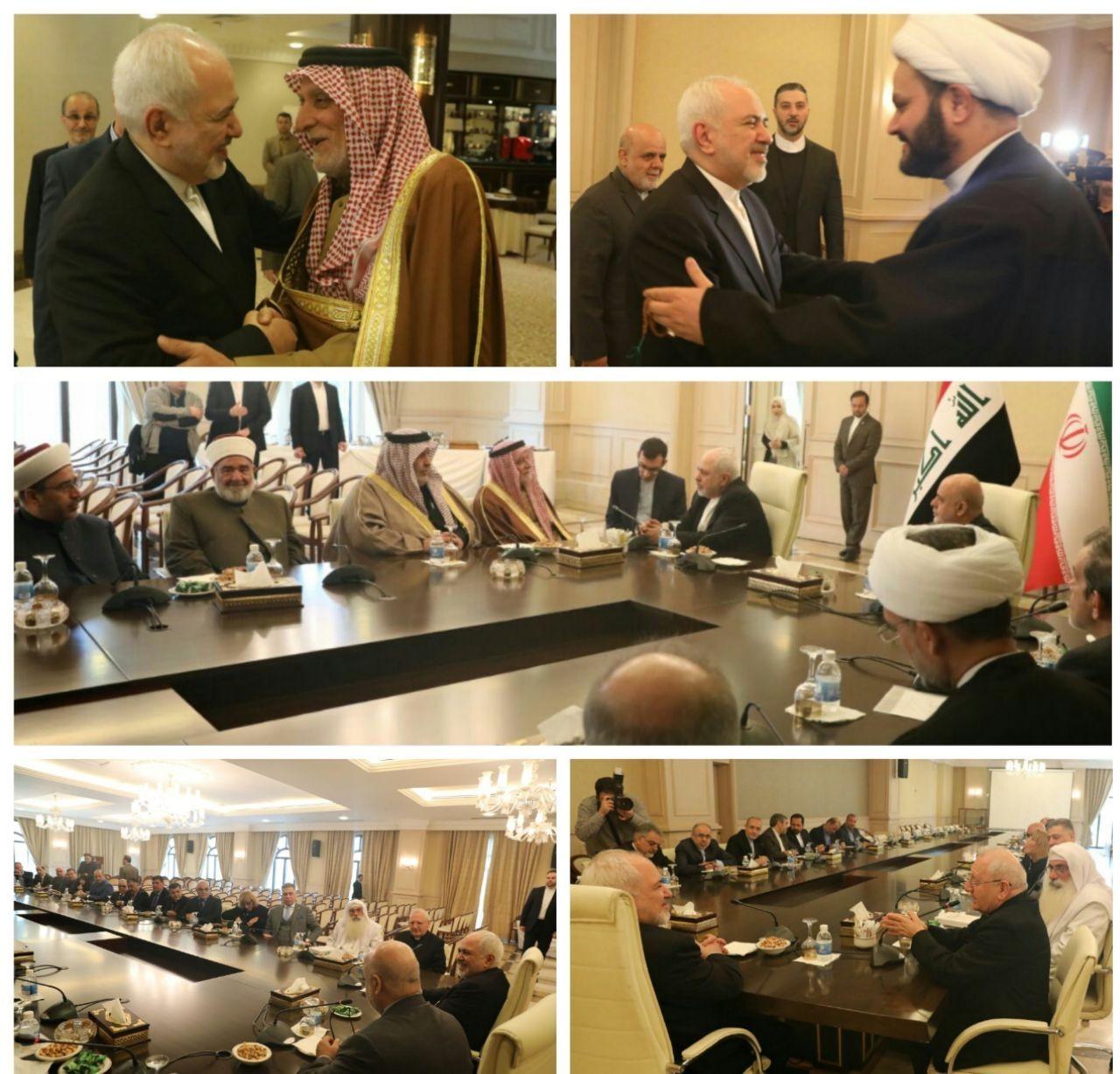 دیدار جمعی از شخصیتها و نمایندگان اقلیتهای دینی عراقی با ظریف