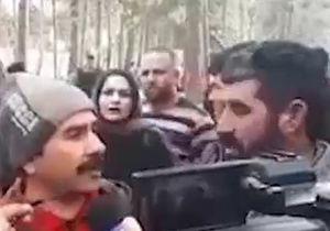 لحظه غش کردن یک زن در محل حادثه سقوط هواپیما در مقابل دوربین خبرنگاران + فیلم