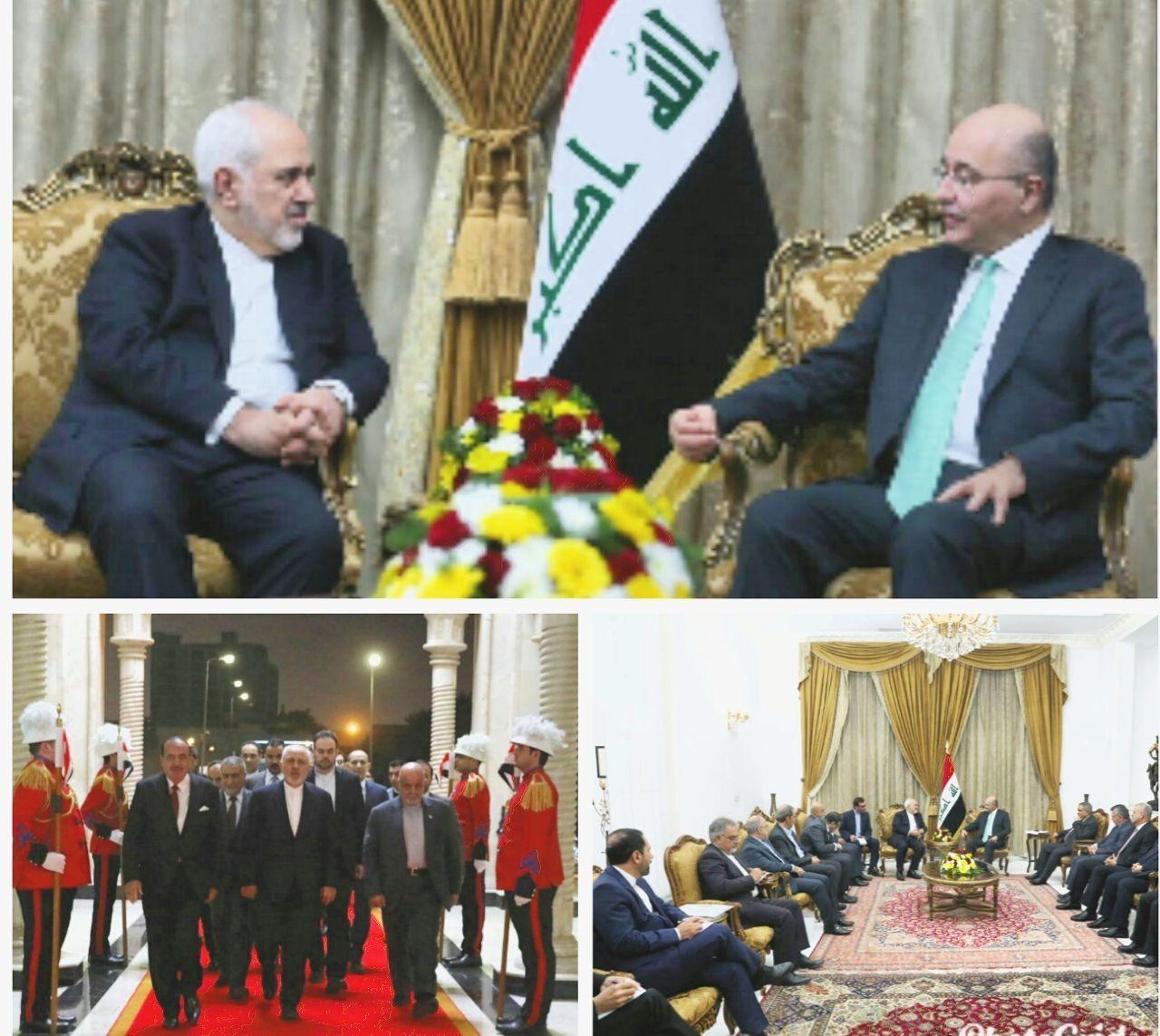 ظریف با برهم صالح دیدار کرد