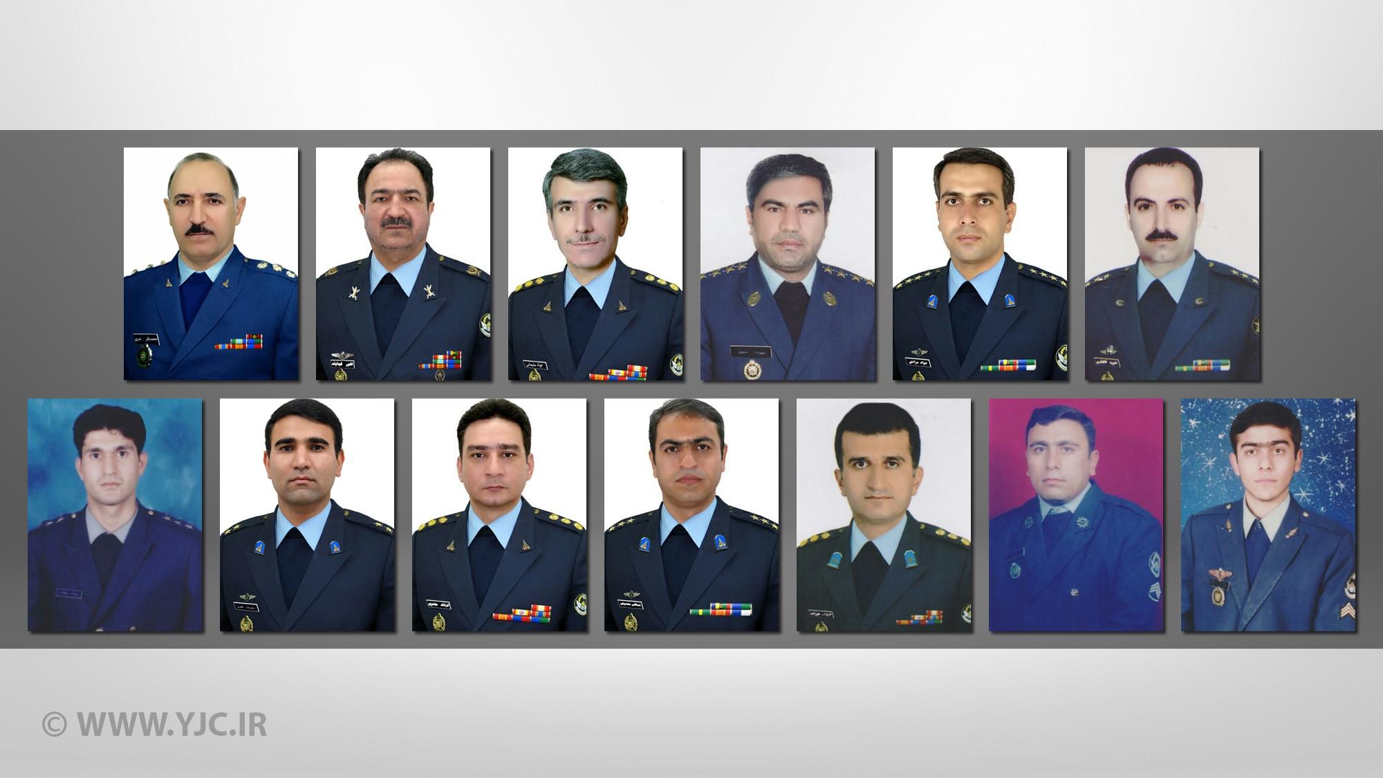 تصاویر جانباختگان ارتش سانحه هواپیمای بوئینگ ۷۰۷