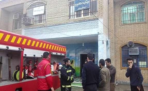 باشگاه خبرنگاران -مهار آتش سوزی در یکی از مدارس خرمشهر