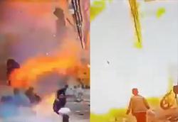 تکهتکهشدن چند نظامی و شهروند عادی در عملیات انتحاری داعش + فیلم