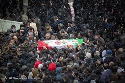 تشییع پیکر شهدای حادثه سقوط هواپیمای بوئینگ ۷۰۷ - همدان