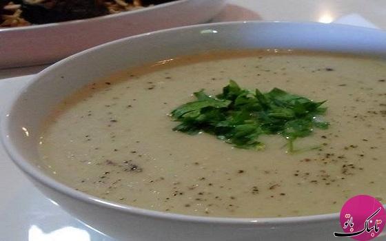 طرز تهیه سوپ بادمجان کبابی