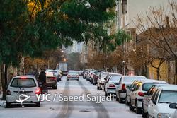 بارش شدید باران و تگرگ در تهران