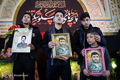 باشگاه خبرنگاران -وداع با پیکر مطهر ۱۰ شهید دفاع مقدس و مدافع حرم در مشهد