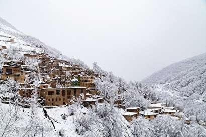 باشگاه خبرنگاران -بارش برف در ماسوله