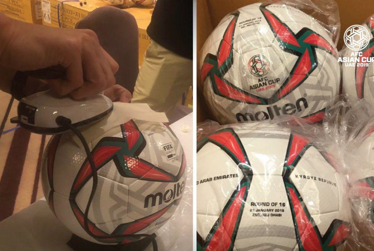 رونمایی از توپ مسابقات در مرحله حذفی جام ملتهای آسیا ۲۰۱۹
