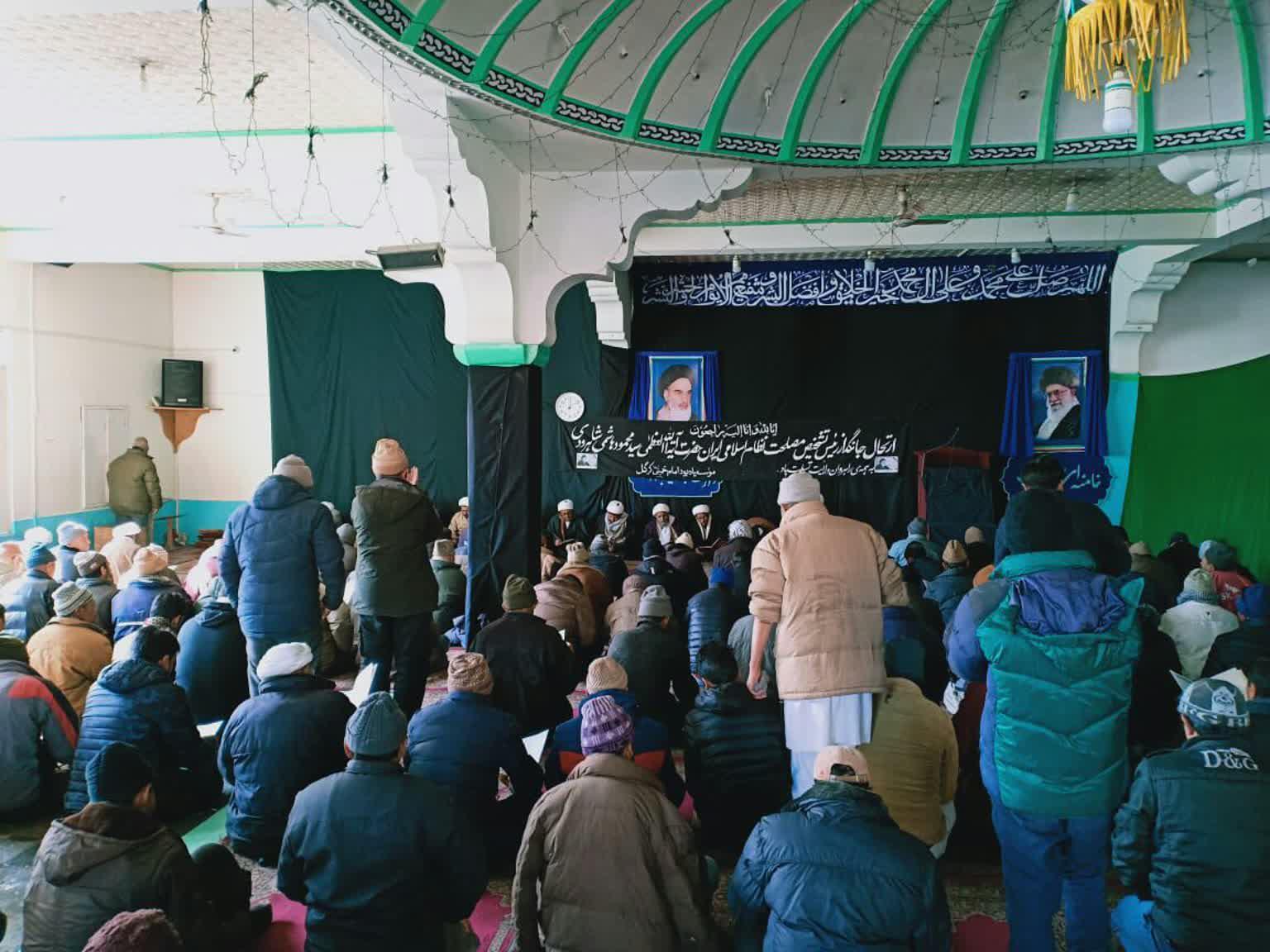 دسته عزاداری شیعیان کرگل هند به مناسبت درگذشت آیت الله هاشمی شاهرودی+عکس