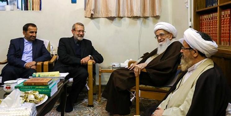 رئیس مجلس با مراجع عظام تقلید دیدار کرد