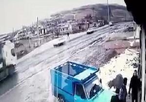نجات معجزهآسای راننده ال90 از مرگ حتمی + فیلم