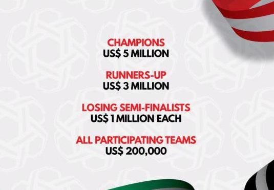 جایزه 5 میلیون دلاری جام ملت های 2019 برای تیم ها انگیزه ساز خواهد بود