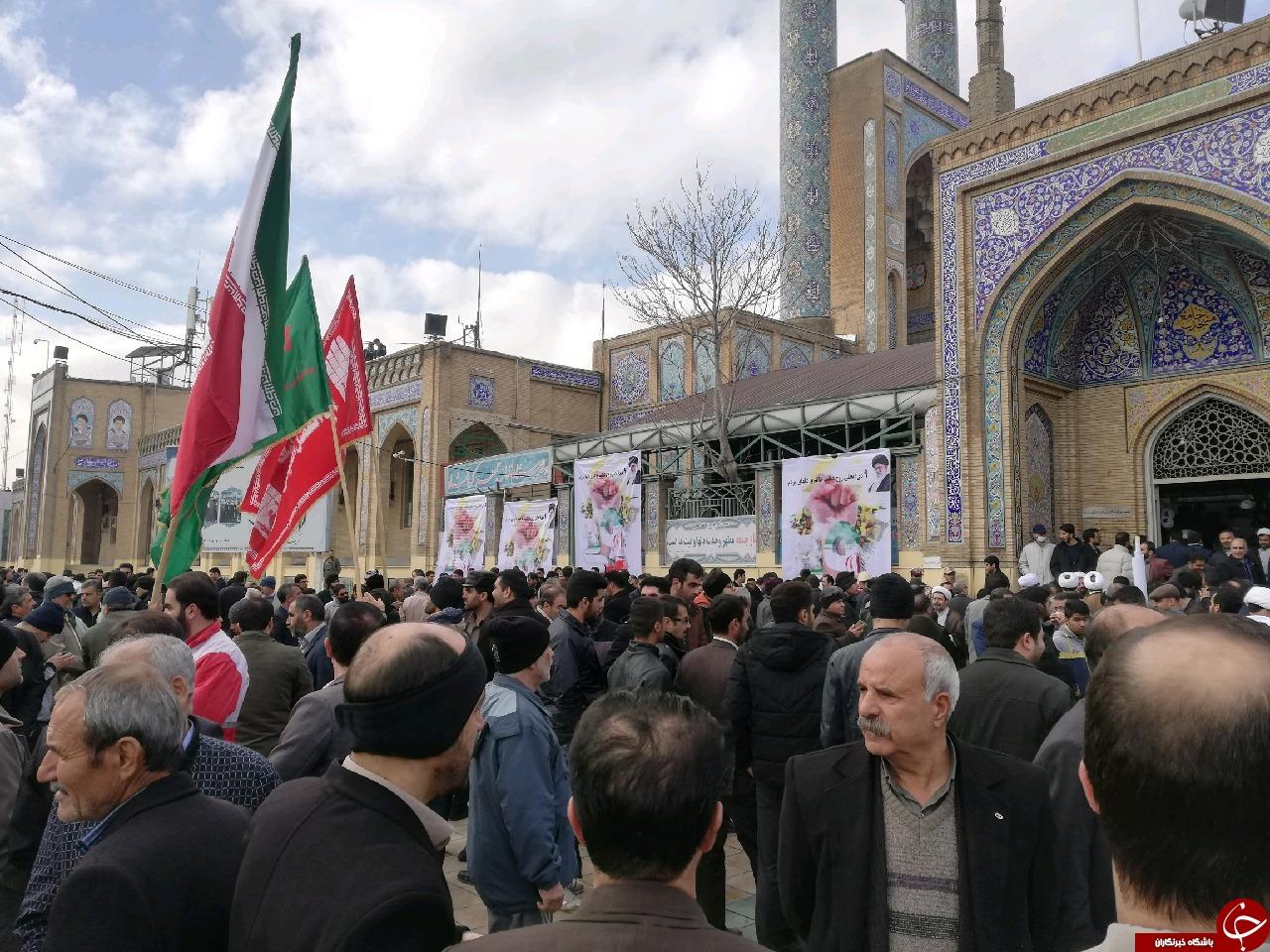 برگزاری مراسم باشکو 9 دی در کرمانشاه +تصاویر
