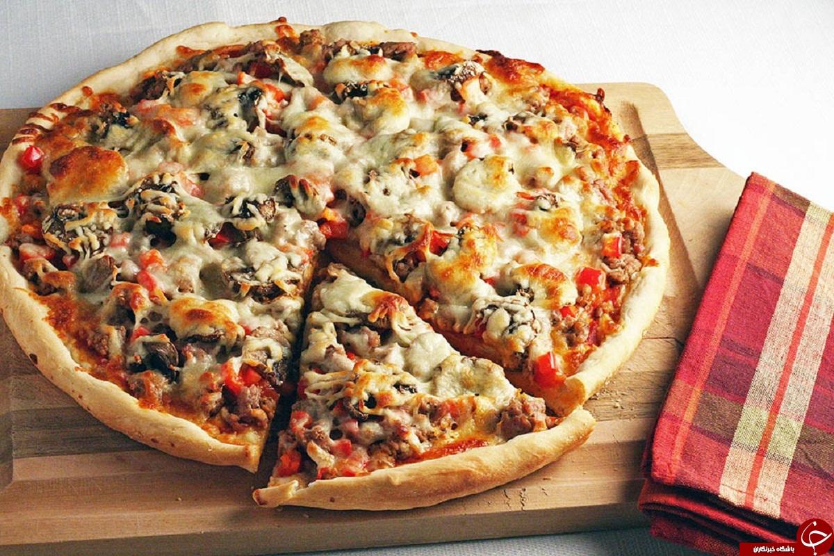 طرز تهیه پیتزا مخلوط خانگی (بدون فر)