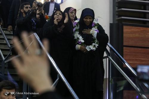 مرضیه هاشمی وارد تهران شد + تصاویر