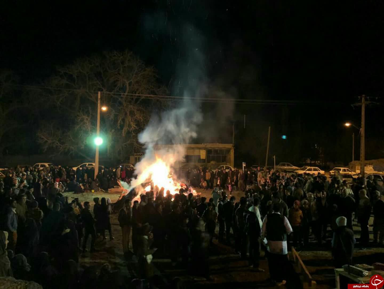 جشن انقلاب و آیین سده سوزی در روستای چشمه سبز گوغر + تصاویر