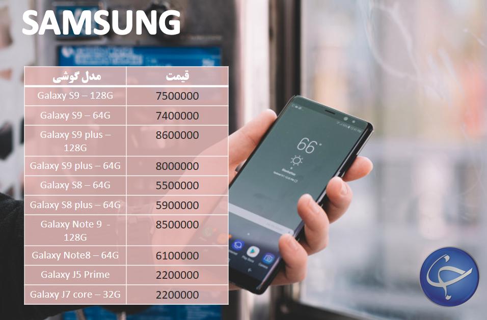 آخرین قیمت تلفن همراه در بازار (بروزرسانی 13 بهمن) +جدول