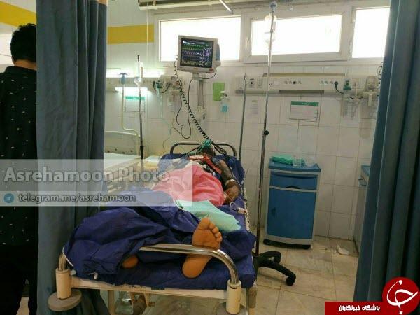 اولین تصویر یکی از مصدومین حادثه تروریستی نیکشهر+عکس