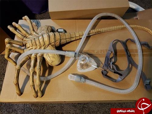 وحشتناک ترین ماسک تنفسی که نفس را بند می آورد!( تصاویر18+)