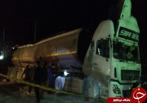 انفجار تانکر سوخت در خرم آباد/یک سرباز وظیفه شهید شد +تصاویر