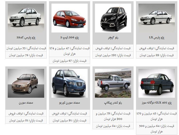 قیمت خودرو افزایش یافت + جدول