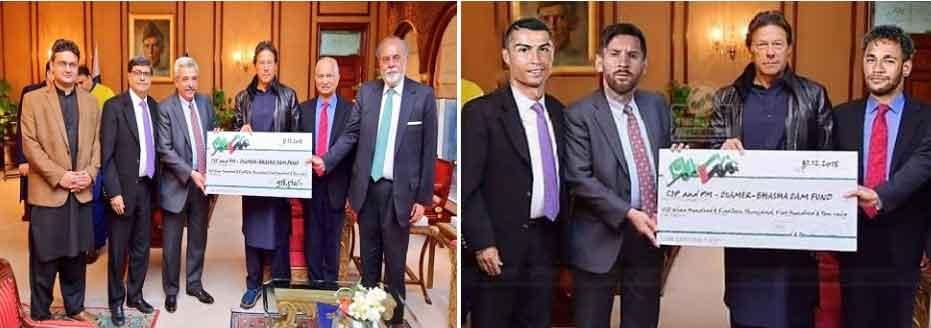 کمک ناخواسته نیمار مسی ورونالدو به نخست وزیر پاکستان در فضای مجازی