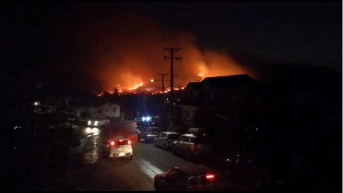 اعلام وضیت قرمز در شیلی در پی وقوع آتش سوزی//////