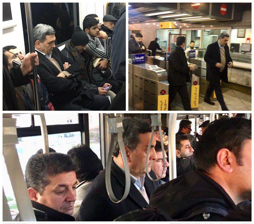 شهردار تهران با BRT و مترو رهسپار بهشت شد + عکس