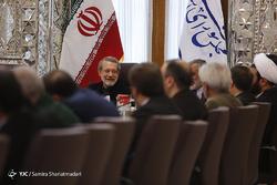 دیدار اعضای ستاد شورای عالی هماهنگی تبلیغات اسلامی با رئیس مجلس