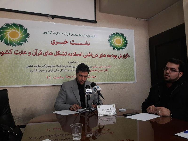 بودجه های دریافتی اتحادیه تشکل های قرآن و عترت کشور تشریح شد