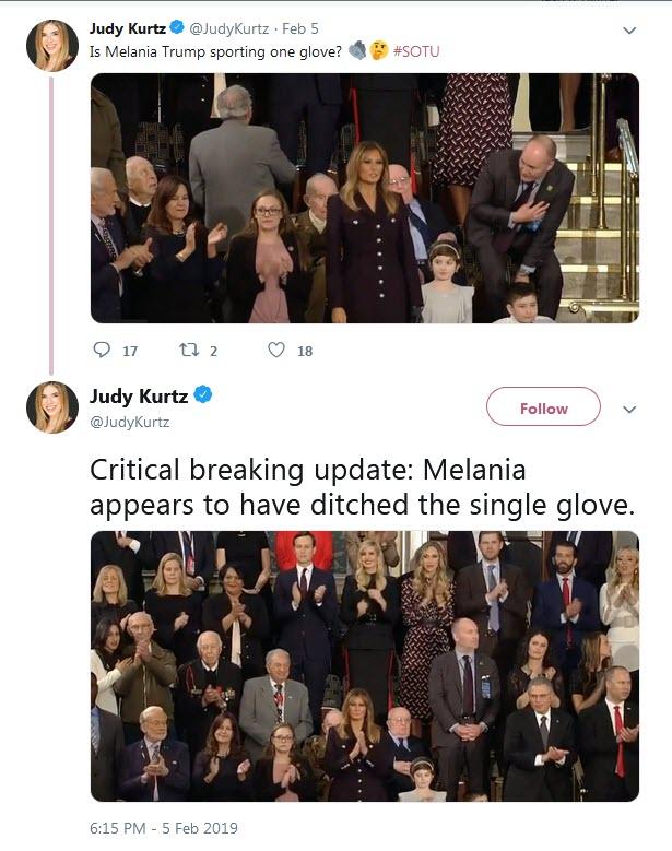دستکش های ملانیا ترامپ طوفانی در شبکه های اجتماعی به راه انداخت+تصاویر
